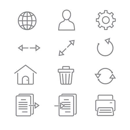 Toolbar icons for Application and website with White Background Ilustrace