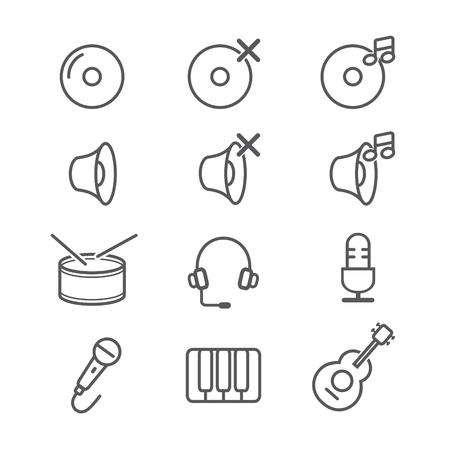 Music icons with White Background.jpg Illustration
