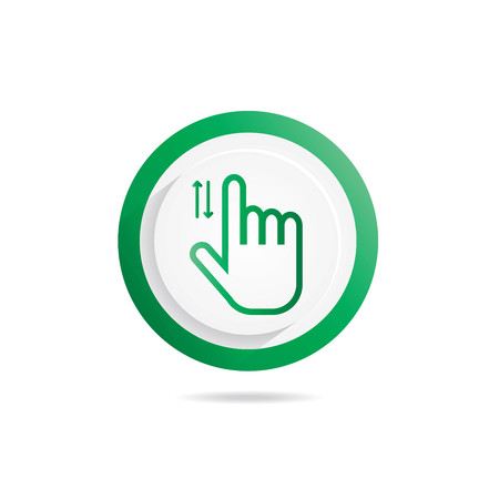 Hand Gesture icon sliding up down Illustration