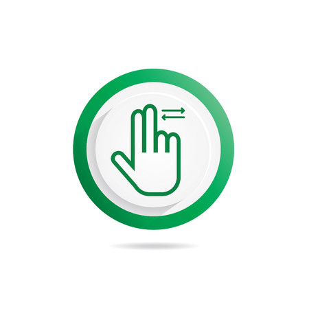 Hand Gesture icon Two fingers,sliding left right Çizim