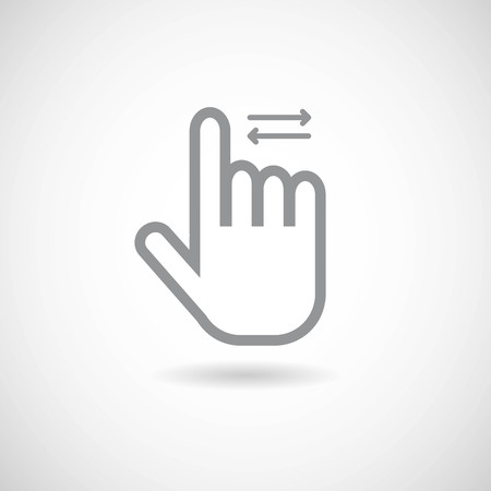 Hand Gesture icon sliding Left,Right