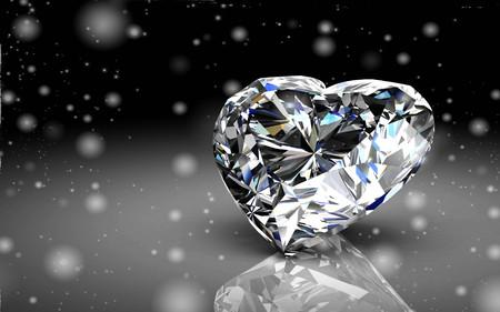 Shiny white diamond illustration .3D rendering.(high resolution 3D image)