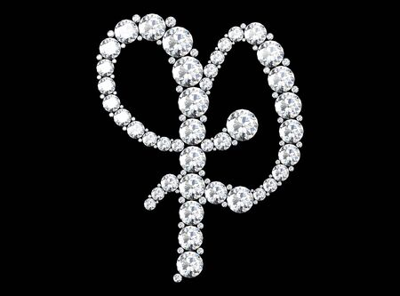 diamond letters with gemstones (high resolution 3D image) 스톡 콘텐츠