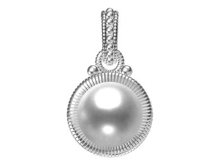 Beautiful pendant on white background. 3D rendering Stock Photo - 153796970