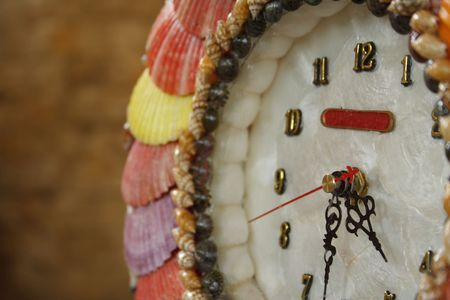 A clock made from capiz shells