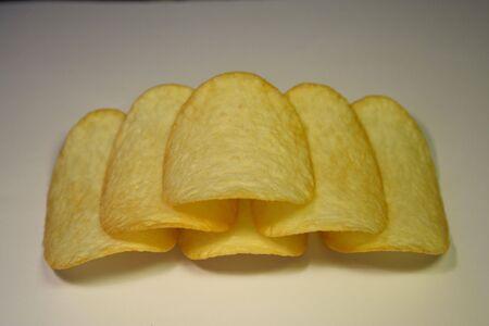 Close-up de croustillant de pommes de terre puces