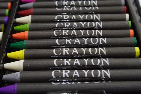 Close-up of colorful crayons