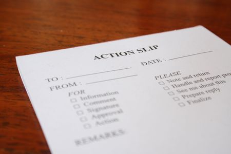 a close-up shot of an action slip