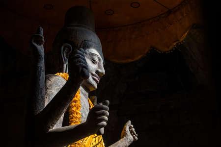 angkor wat: The Vishnu god in the Angkor wat, Cambodia