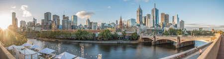 Melbourne stad met panoramisch uitzicht, Australië.