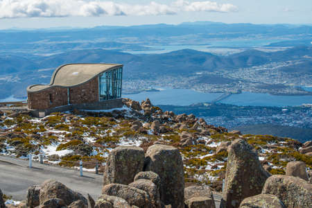 Sur le sommet de la ville de Mt. Wellington de Hobart, Tasmania, en Australie.