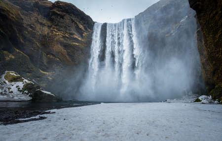 skogafoss waterfall: Skogafoss waterfall one of the best known waterfalls in southern Iceland.