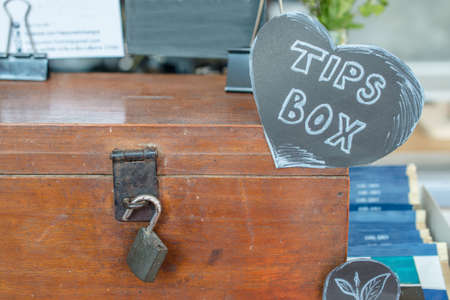 The tips box with the key lock.