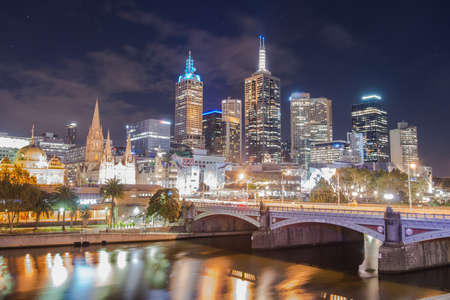 Melbourne the most liveable city in the world. Scenery in the night time.