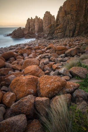 The Pinnacles rock at Cape Woolamai coast of Phillip Island, Melbourne, Australia.