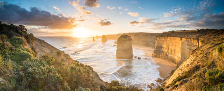 The Twelve Apostles an iconic landscape of the Great Ocean Road, Victoria state of Australia. Stock Photo
