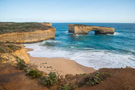The London bridge one of tourist attraction place of the Great Ocean Road of Australia.