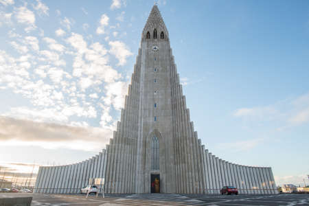Hallgrimskirkja the largest and tallest church in Reykjavik the capital cities of Iceland.