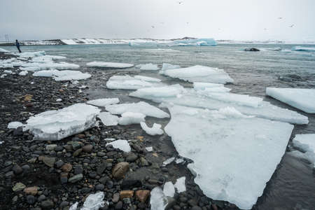 Jokulsarlon glacier lagoon of Vatnajokull national park Iceland.