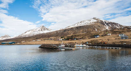 Scenery view of Stodvarfjordur the lovely fisherman town in East fjord of East Iceland.
