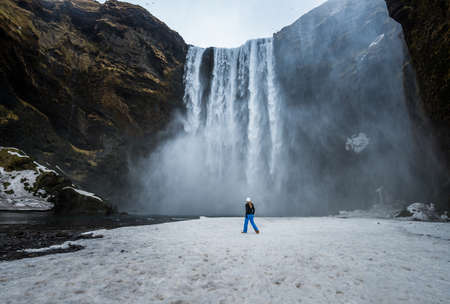 Skogafoss is one of the biggest and most beautiful waterfalls of the island, is a waterfall situated on the Skoga river in the south of Iceland at the cliffs of the former coastline.