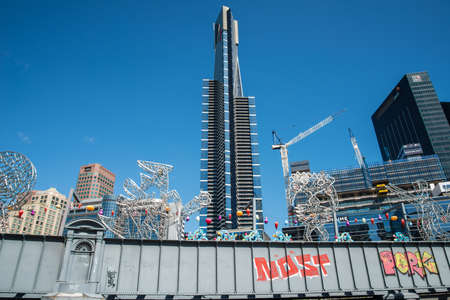 MELBOURNE, AUSTRALIA - FEBRUARY 18 2016: Eureka tower the tallest building in Melbourne city of Australia.