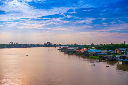 chao: Sunset at Chao Phraya river side