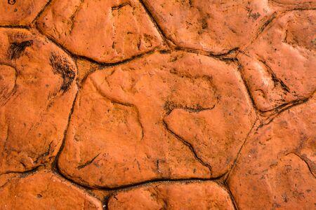 grune: Orange stone wall background, grune background