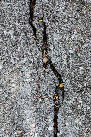 cleft: cracked road