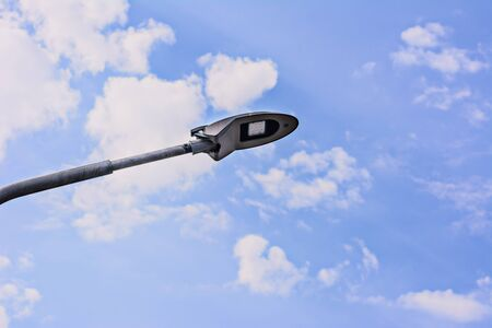 lamp post: Lamp Post Street Road over blue sky Stock Photo