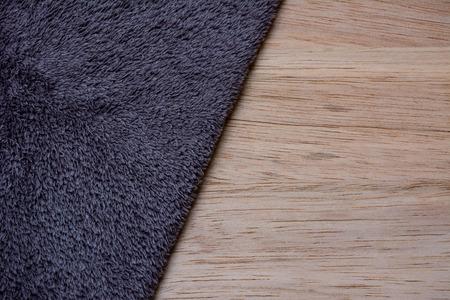 microfiber cloth: Microfiber Cloth on wooden background