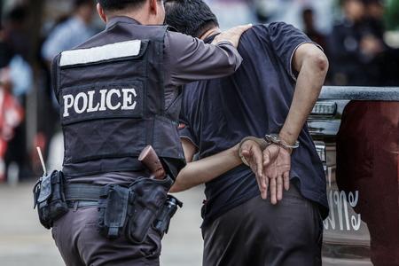 Polizia arrestata Archivio Fotografico - 91517440