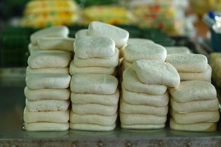 fromage de soja in the market of Thailand.