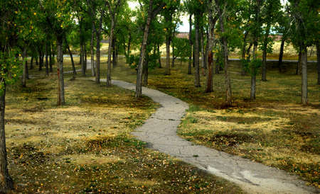 meandering: Meandering Path Stock Photo