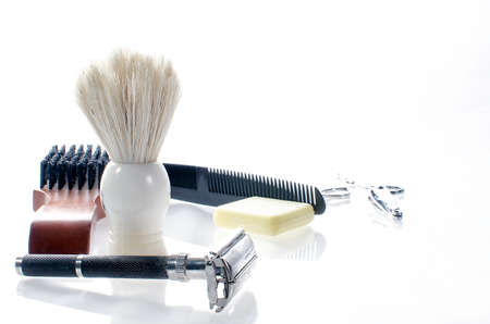 Men s grooming products 免版税图像
