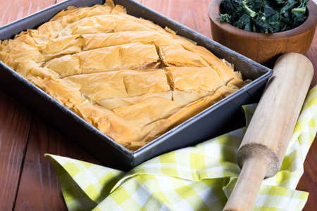 Spanakopita Greek Pastry with spinach