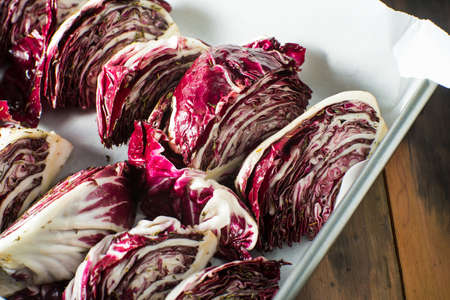 radicchio: Grilled Radicchio vegetable with balsamic sauce