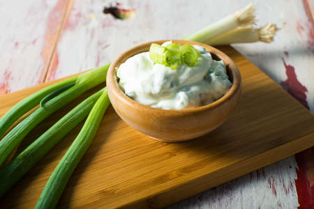 Yogurt or Sour Cream topping for food