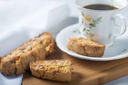 Biscotti italian cookie coffee snack Stock Photo