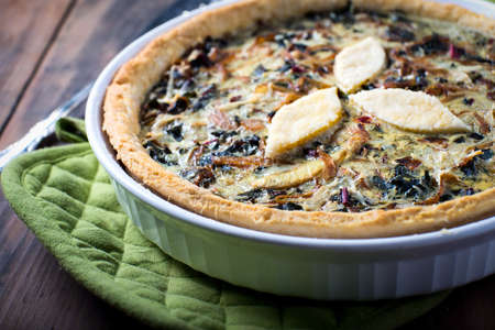 Egg pie quiche vegetable savory organic