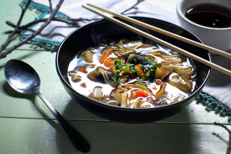 Bowl of Asian vegatable soup stew