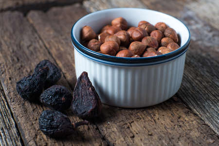 Dried ingredients figs filberts fig fruit