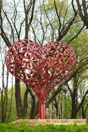 amorousness: heart made of iron petals