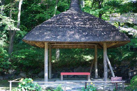 Japan garden tea house
