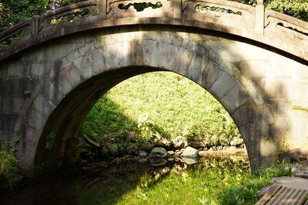 Round bridge 写真素材