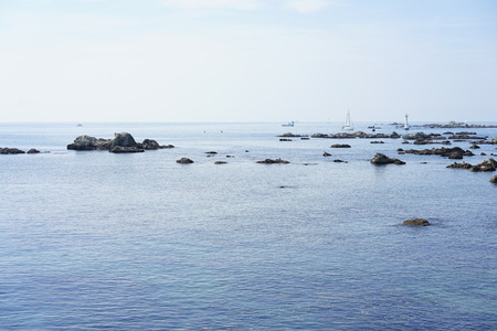 The blue seas in Hayama