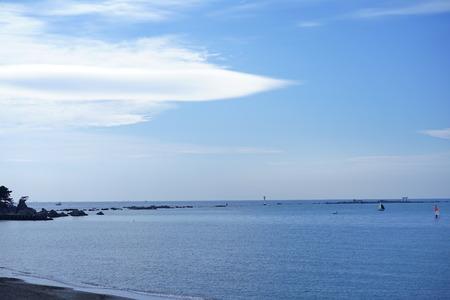 A blue sea in Hayama 写真素材