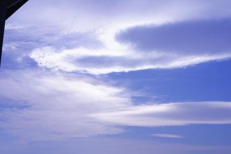Winter blue sky and sea