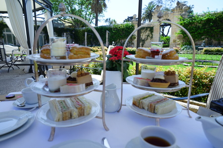 Afternoon tea at the Malta island 写真素材