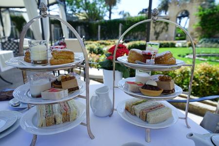 Afternoon tea at the Malta island 写真素材